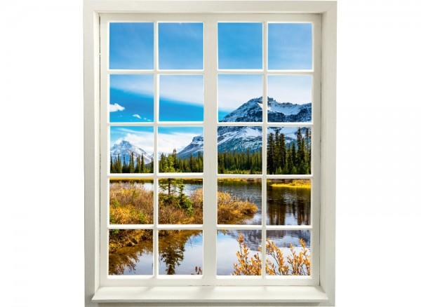 3D Wandtattoo selbstklebendes Fenster weiß