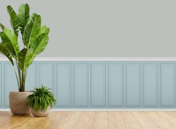 3DWandaufkleber amerikanischer Landhaus Stil Türkisblau