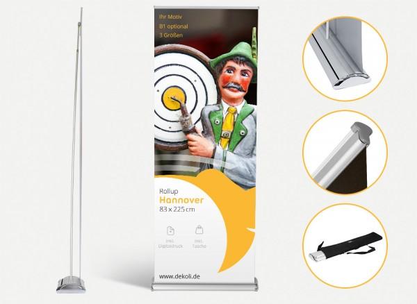 Rollup Display Hannover mit Druck und Tasche