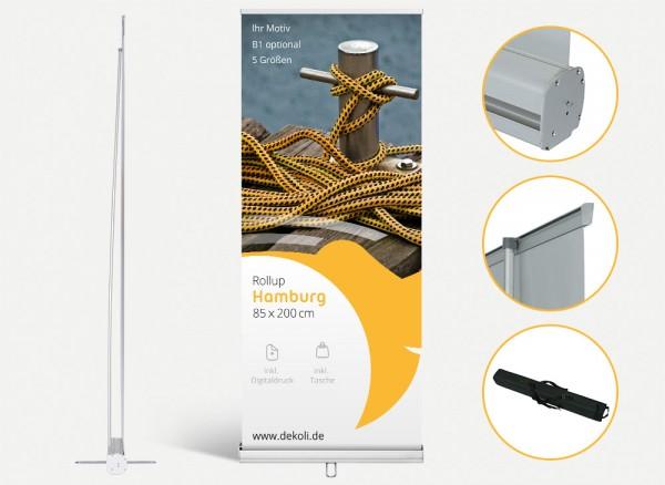 Rollup Display Hamburg mit Druck und Tasche
