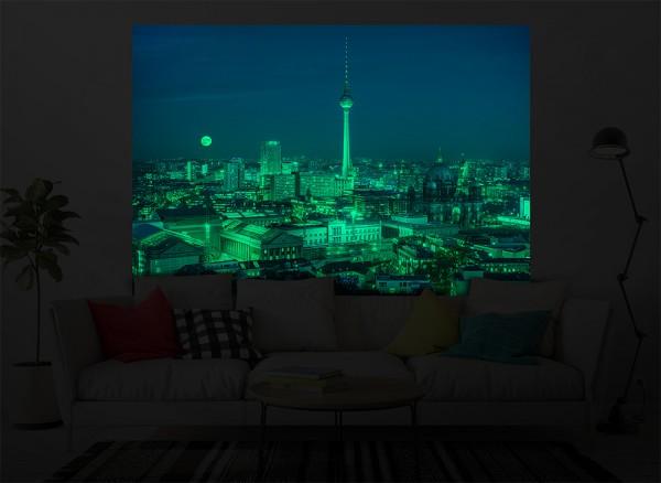 Leuchtaufkleber eigenes Motiv Skyline Berlin