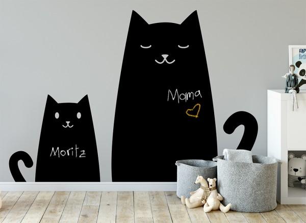 Kreidetafel Aufkleber Katzen