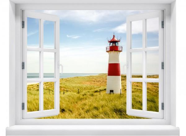 3D-Fenster Leuchtturm
