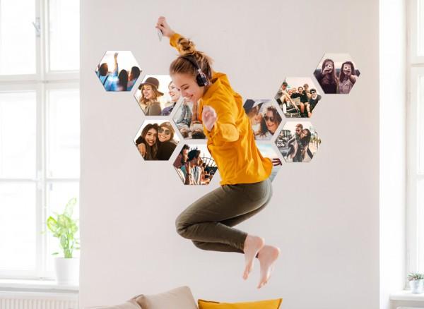 Fotokachel sechseckig Partybilder