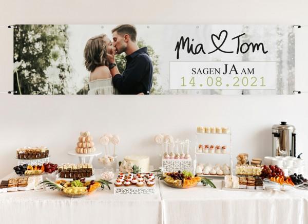 Banner für Hochzeit
