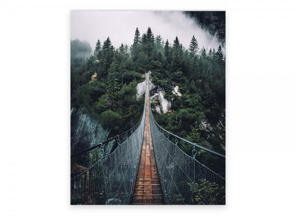 Hängebrücke als Leinwandbild
