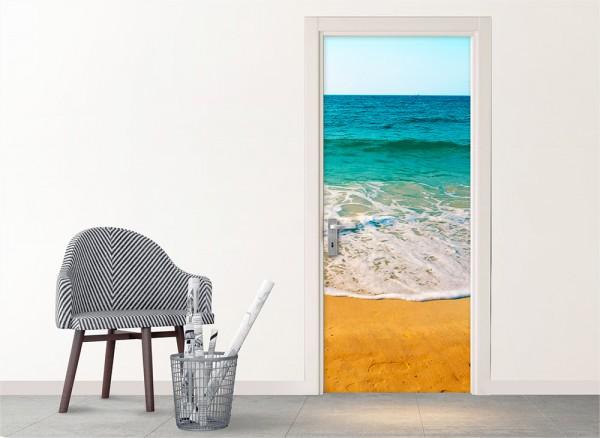 Türposter selbst gestaltet Beispiel Meer