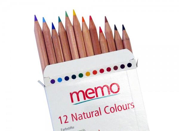 12 Buntstifte aus zertifiziertem Holz