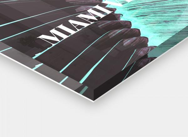 Acryl Glas Schild Detailansicht