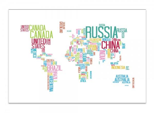 Die Welt auf Leinwand gedruckt mit Keilrahmen