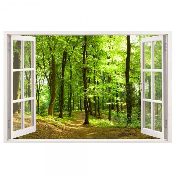 Leinwand mit Blick aus dem Fenster in den Wald