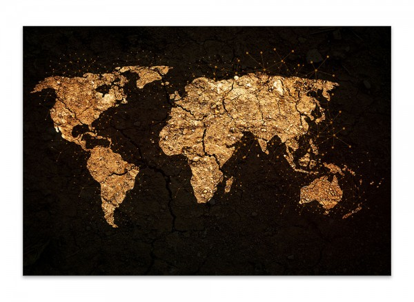 Hauptbild Leinwand Weltkarte