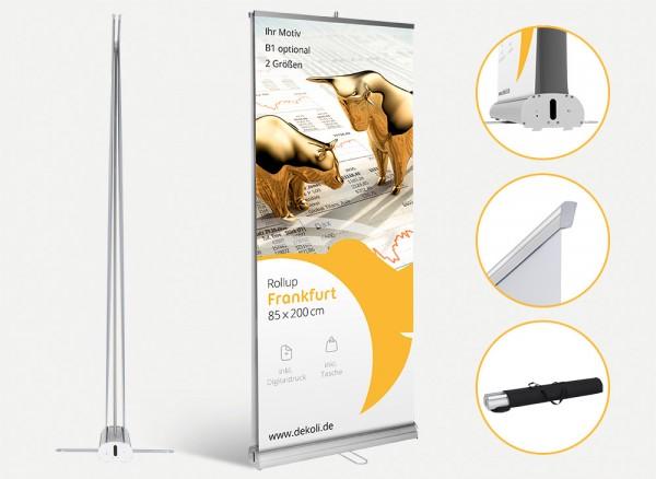 Rollup Display Frankfurt mit Druck und Tasche