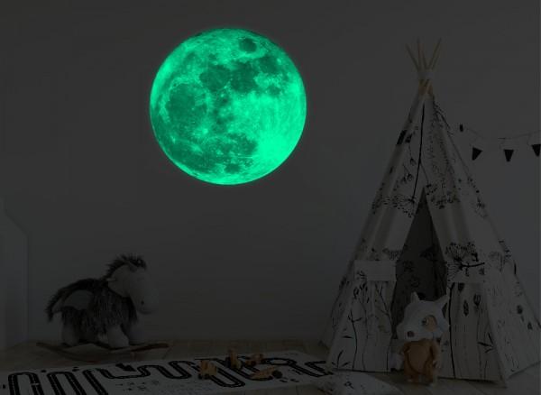 Leuchtaufkleber Planeten Mond bedruckt