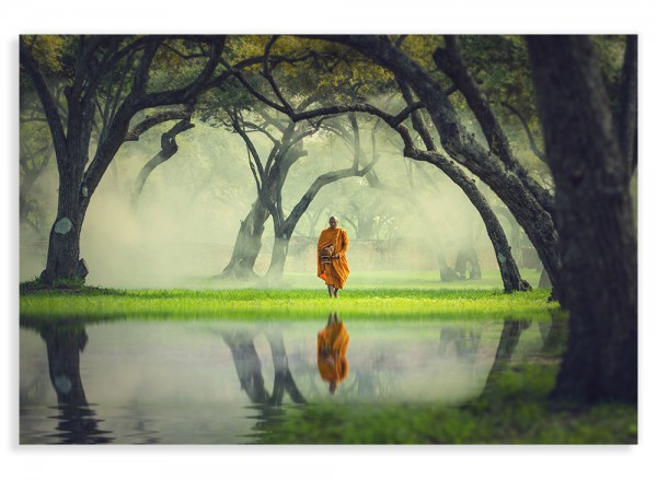 Leinwandbild Mönch am See