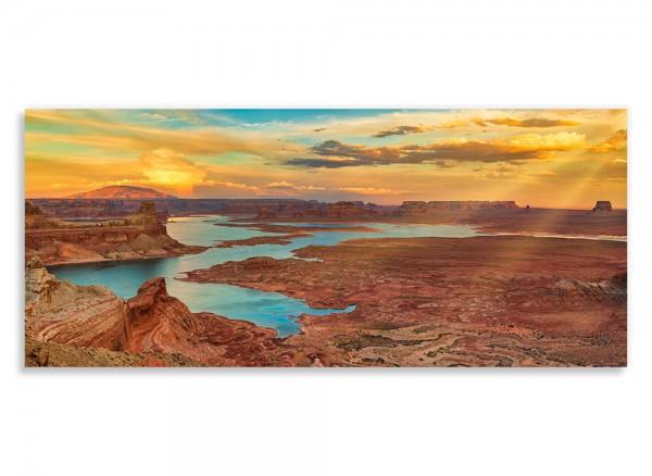 Leinwandbild bedruckt mit Canyon im Sonnenuntergang
