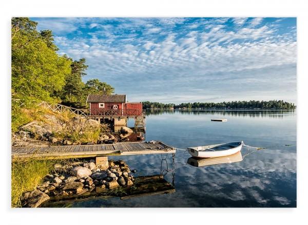 Naturfotografie Schweden auf Leinwand