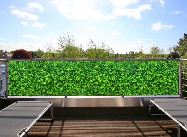 Balkonbanner nach Maß Motiv Grüne Hecke