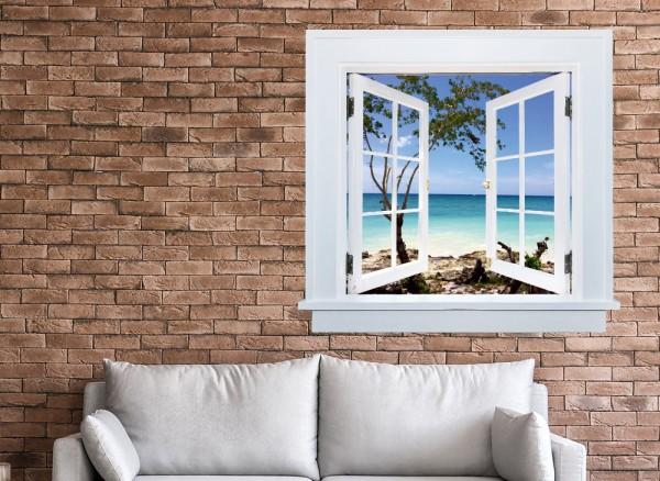 3D Wanddesign Karibik Strandurlaub