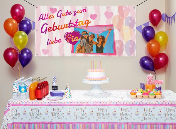 Geburtstagsbanner selbst gestaltet