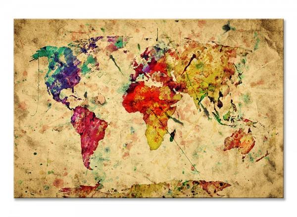 Leinwand Vintage Weltkarte