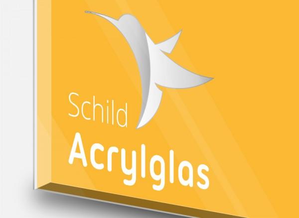 Schild Acrylglas