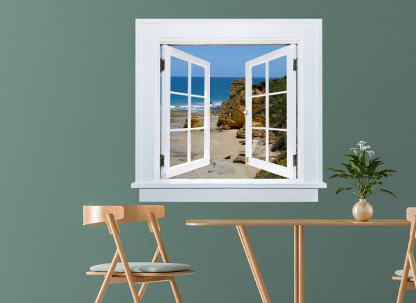 3D-Wandtattoo_Fenster_Strand