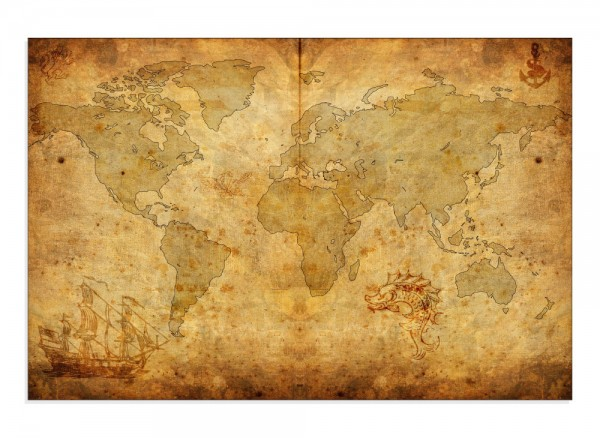 Hauptbild Weltkarte Antike Seekarte