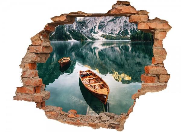 Ansicht Wandtatoo Berge Wanddurchbruch