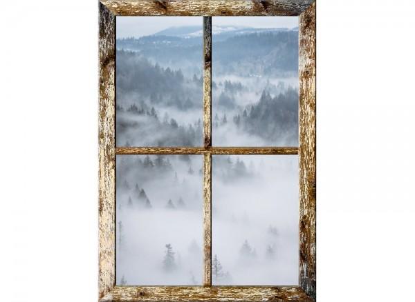 3D Wandbild als Fensterrahmen mit Landschaft